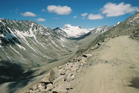 Photograph of glacier trough in Leh Valley, Ladakh
