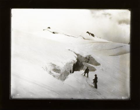 Historic photograph of Zadazan Glacier, Europe, 1894