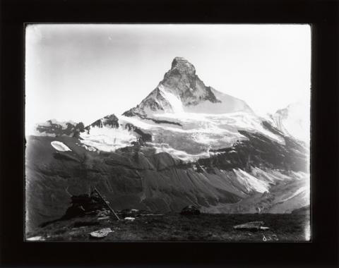 Historic photograph of the Matterhorn, Switzerland, 1894