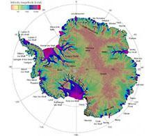 Ice velocity map