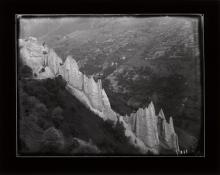Historic photograph of an eroded moraine, Switzerland, 1902