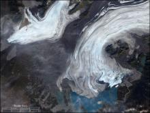 Satellite image of Bering Glacier, Alaska