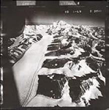 Historic photograph of Kahiltna Glacier, 1942