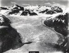 Historic photograph of LeConte Glacier