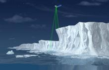 ICESat-2 illustration from NASA