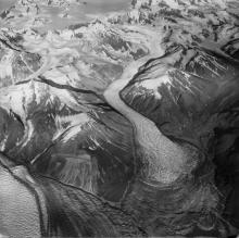 Historic photograph of Variegated Glacier, Alaska, 1965