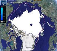 Arctic sea ice minimum 2008