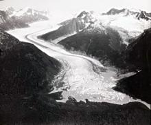 Historic photograph of Wright Glacier, Alaska, 1948