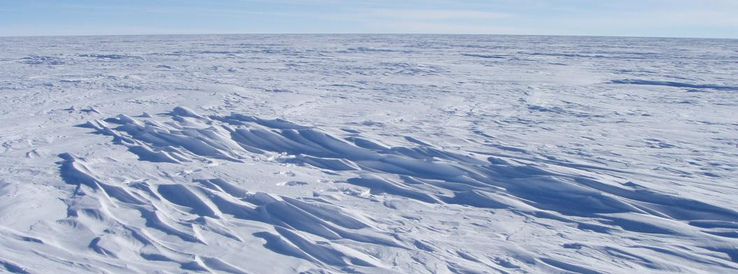 Snow surface near Plateau Sation in East Antarctica