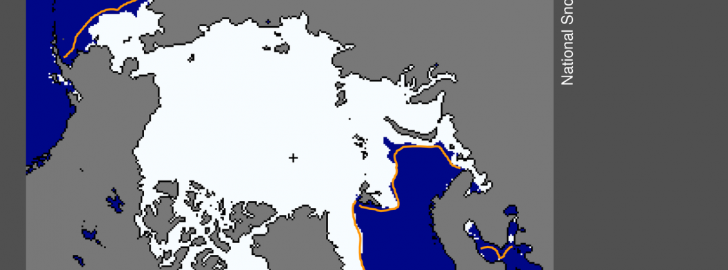 Arctic sea ice extent for February 25, 2015