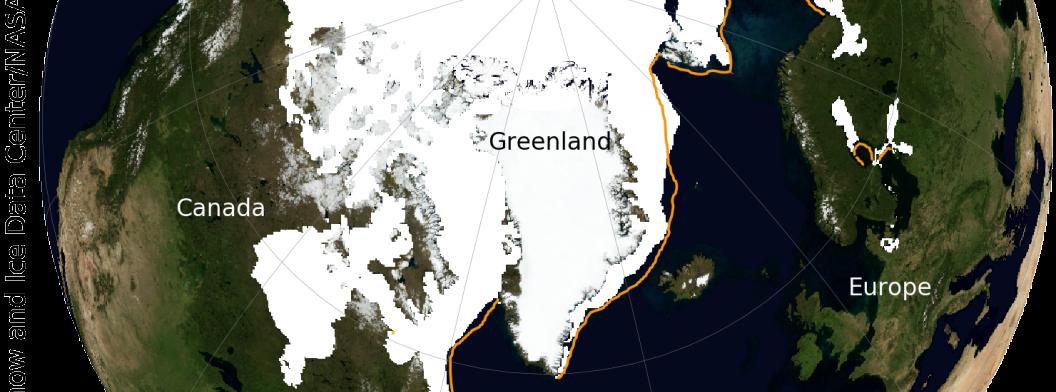 Globe with sea ice