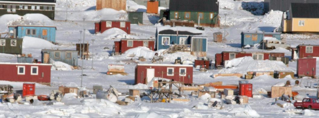 The village of Qannaaq, Greenland,